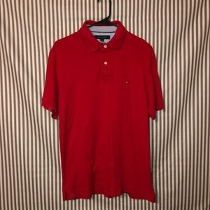 Red Tommy Hilfiger Polo